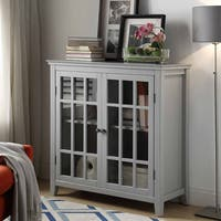 Lola Gray Double Door Cabinet