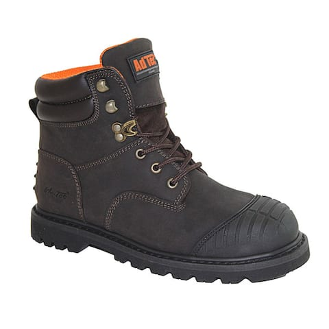 Mens 6 inch Steel Toe Work Boots Brown