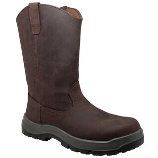 """Men's 12"""" Composite Toe Waterproof Wellington Dark Brown"""