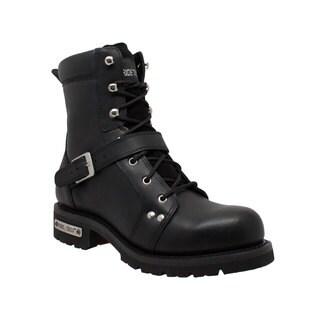 """Men's 8"""" Zipper Lace Black"""