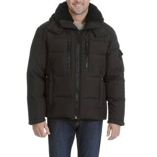 S13 Men's Quilted Faux Fur Trim Collar Hooded Jacket https://ak1.ostkcdn.com/images/products/16935825/P23225151.jpg?impolicy=medium