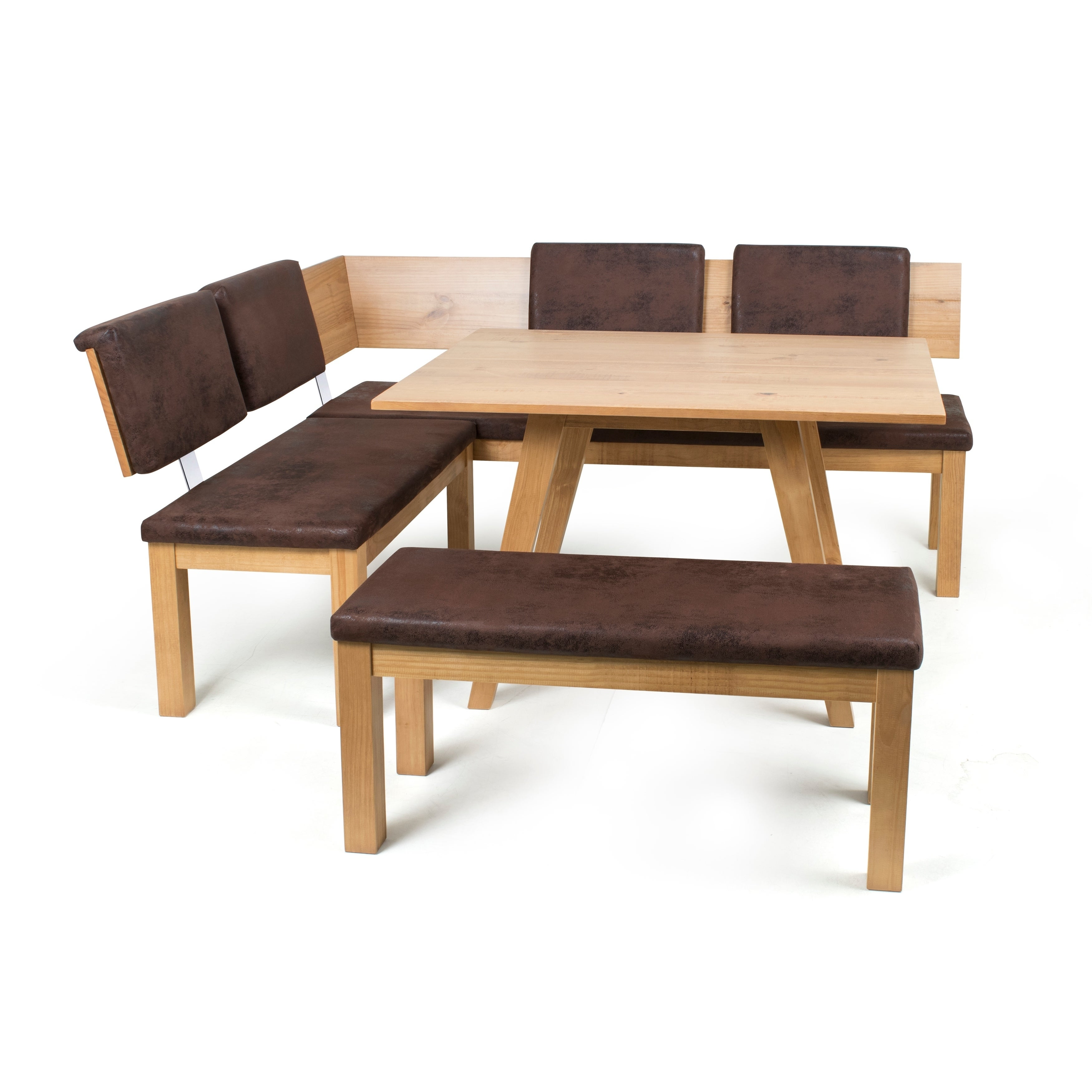 Austin Breakfast Nook Set (Almond Finish - almond), Natur...