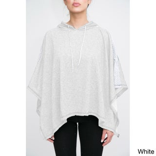 Women's Terry Cloth Poncho with Hoodie