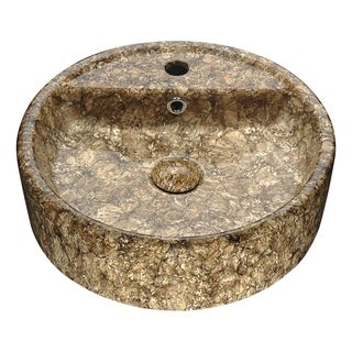 Anzzi Rhapsody Series Neolith Marble Finish Ceramic Vessel Sink