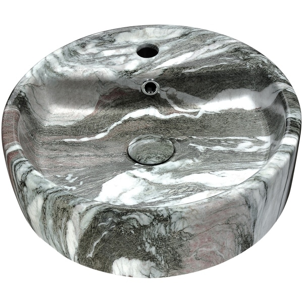 ANZZI Rhapsody Series Ceramic Vessel Sink in Neolith Marble Finish