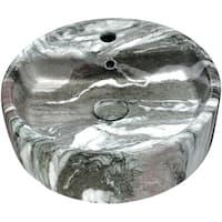 Anzzi Rhapsody Series Neolith Marble Finish Ceramic Vessel Sink