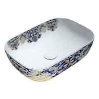 Anzzi Byzantian Series Ceramic Mosaic Vessel Sink