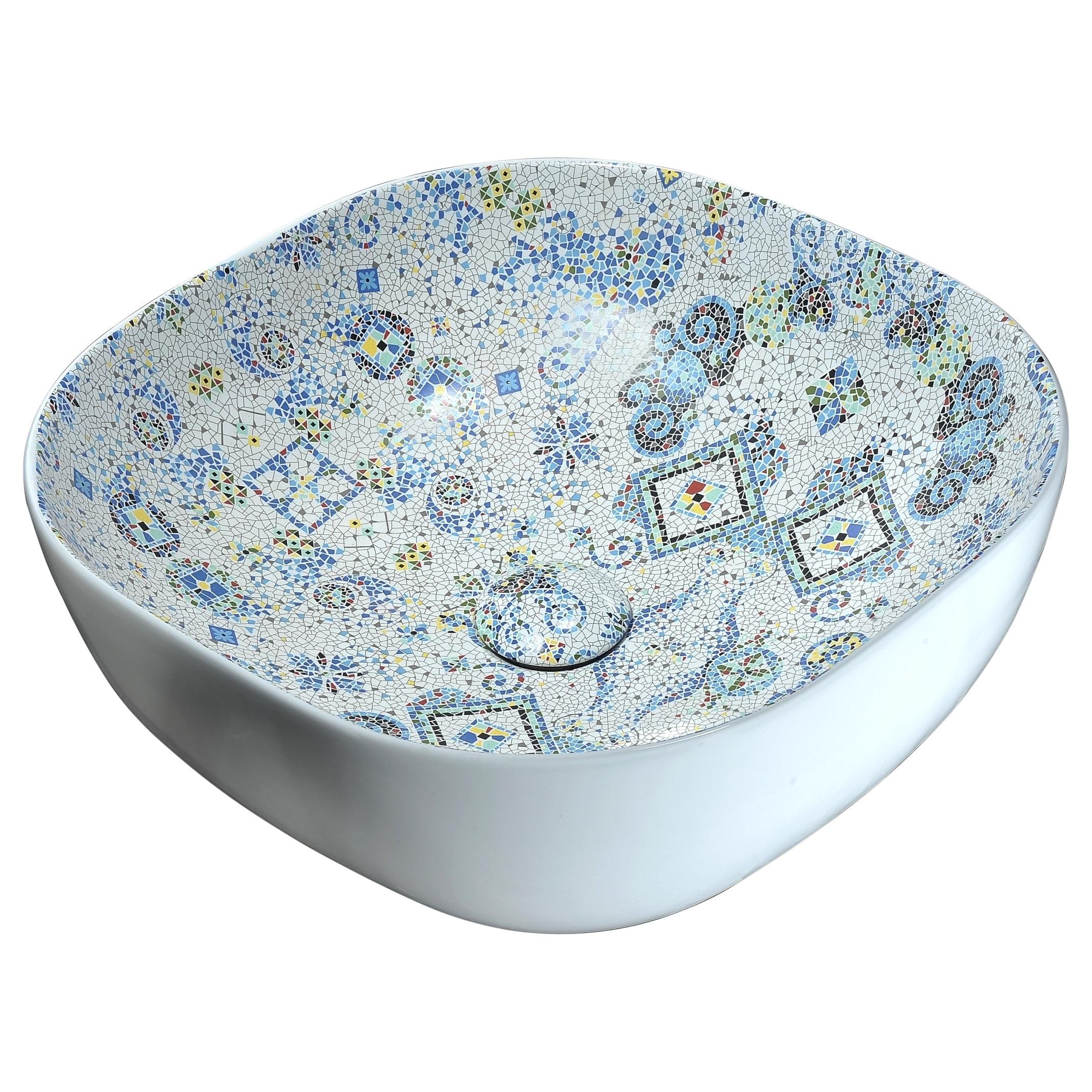 Anzzi Byzantian Series Mosaic Finish Ceramic Vessel Sink | eBay