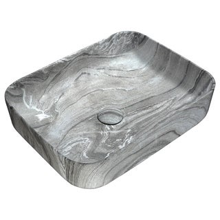 Anzzi Marbled Series Marbled Ash Finish Ceramic Vessel Sink