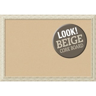 Framed Beige Cork Board, Cape Cod White Wash