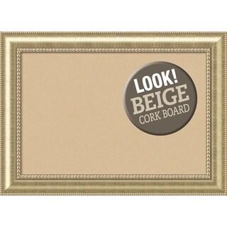Framed Beige Cork Board, Astoria Champagne