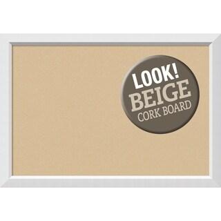 Framed Beige Cork Board, Blanco White