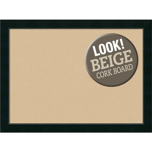 Framed Beige Cork Board, Corvino Black