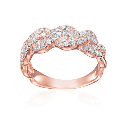 SummerRose Infinity-braid Anniversary 14K Rose Gold Ring