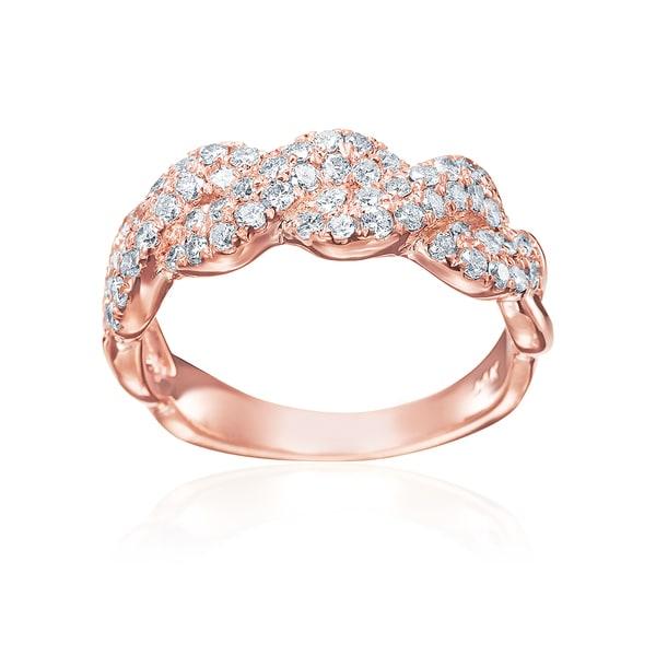 SummerRose Infinity-braid Anniversary 14K Rose Gold Ring