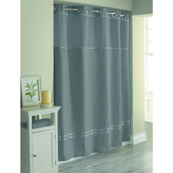 Hookless Escape Shower Curtain With Snap On Liner