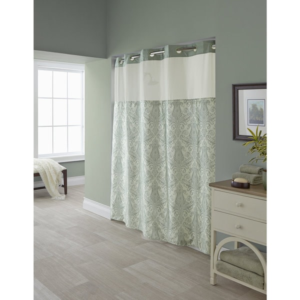 Shop Hookless Vintage Medallion Shower Curtain With Snap On Liner