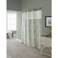 Hookless Vintage Medallion Shower Curtain with Snap-On Liner