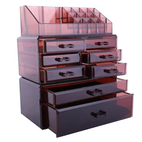 Plastic 3-piece Makeup Organizer and Storage Case