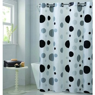 Hookless EZ-ON Retro Dots Shower Curtain
