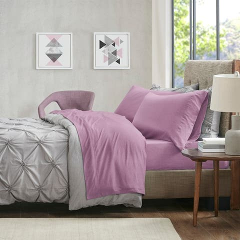 Heathered Cotton Jersey Knit Bed Sheet Set by Urban Habitat