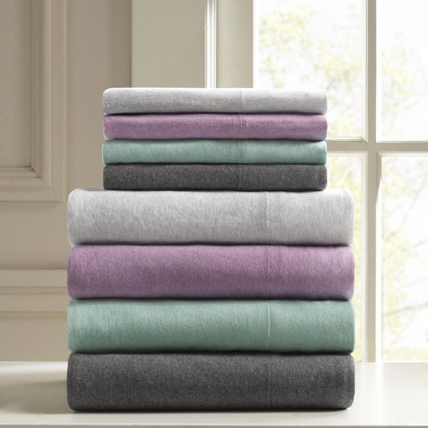 Urban Habitat Heathered Cotton Jersey Knit Sheet Set: Room Essentials Jersey Knit Sheet Sets Full At Alzheimers-prions.com