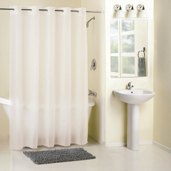 Hookless Frosty Shower Curtain