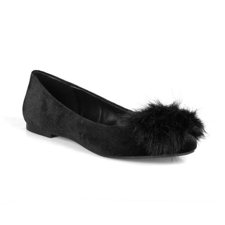 Mark and Maddux Harly-02 Pom Pom Women's Flats