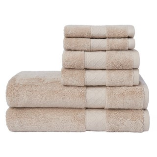 LOFT by Loftex Lattice Solid 6-Piece Towel Set