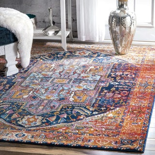 nuLOOM Traditional Intricate and Vibrant Medallion Tribal Multi Runner Rug (2' x 8')