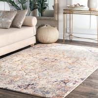 nuLOOM Transitional Intricate Diamond Centerpiece Area Rug