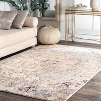 "nuLOOM Blush Transitional Intricate Diamond Centerpiece Area Rug - 5' 3"" x 7' 9"""