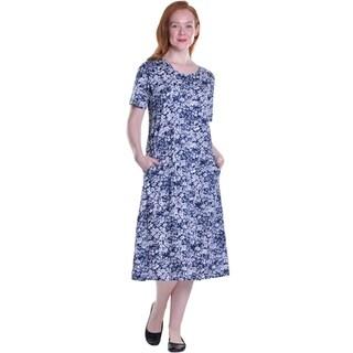 La Cera Women's Short Sleeve Printed Knit Dress (4 options available)