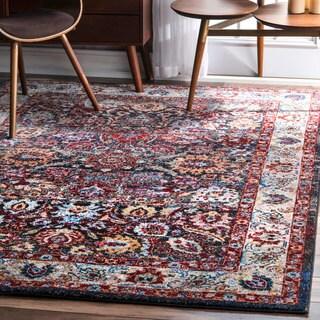 nuLOOM Transitional Vibrant Floral Mosaic Palmettel Multi Rug (8' x 10')