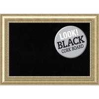 Framed Black Cork Board, Astoria Champagne