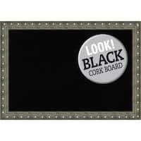Framed Black Cork Board, Barcelona Champagne