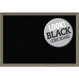 Framed Black Cork Board, Parisian Silver