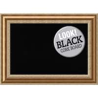 Framed Black Cork Board, Vienna Bronze