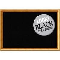 Framed Black Cork Board, Townhouse Gold