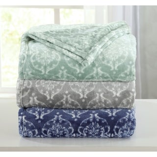 Kingston Collection Ultra Velvet Plush Printed Bed Blanket
