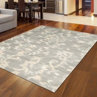 "Catherine Flora Grey Area Rug (5'3 x 7'3) - 5'3"" x 7'3"""