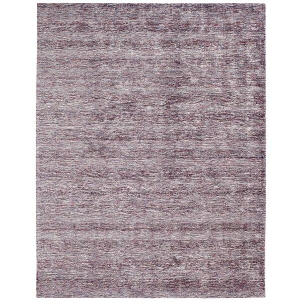 Aero Wisteria Marl Purple Viscose Handmade Area Rug (2' x 3')