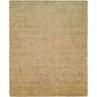 Handmade Avalon Buff Wool and Viscose Area Rug (6' x 9') - 6' x 9'