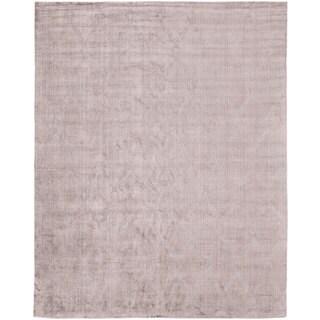 Avalon Lilac Wool/ Viscose Handmade Area Rug (3'6 x 5'6)