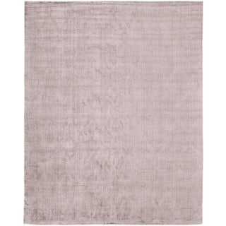 Avalon Lilac Wool/Viscose Handmade Area Rug (5' x 7')