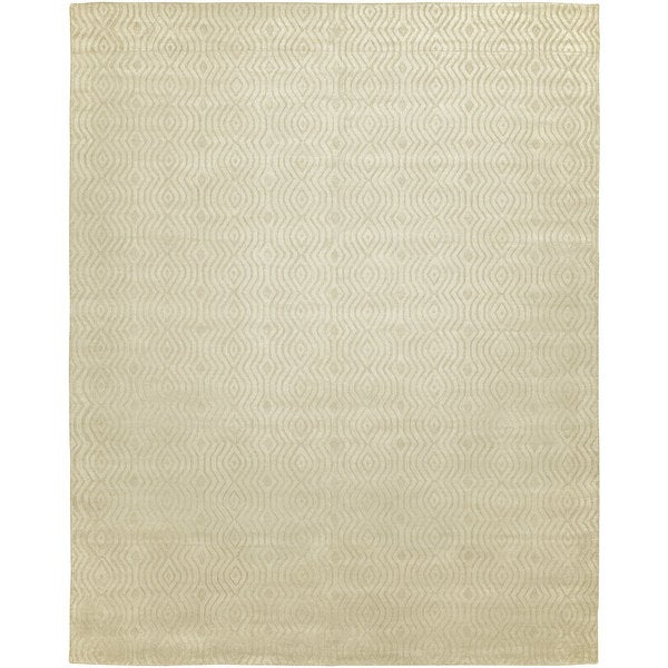 "Avalon Linen Wool and Viscose Handmade Area Rug - 2'6"" x 10'"