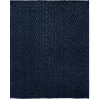 Avalon Midnight Blue Handmade Runner Rug (2'6 x 10)