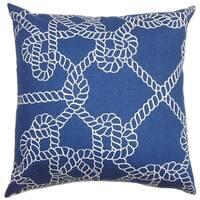 Accalia Coastal Floor Pillow Navy Blue