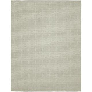 Avalon Pearl Grey Wool/Viscose Handmade Area Rug (5' x 7')