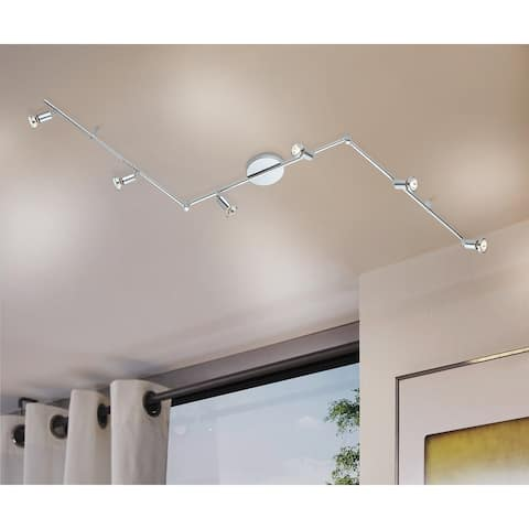 Eglo Buzz 2 6-Light Track Lght in Polished Chrome